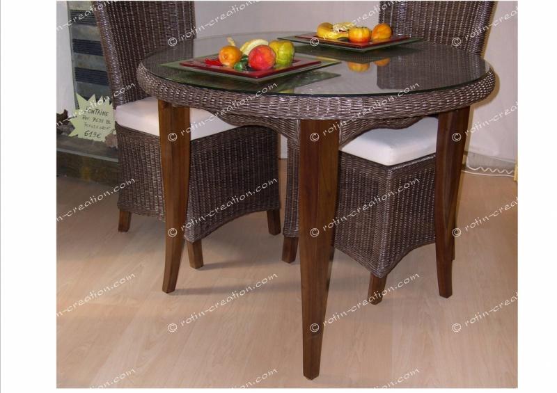 table jose dessus verre table incontournable en moelle. Black Bedroom Furniture Sets. Home Design Ideas