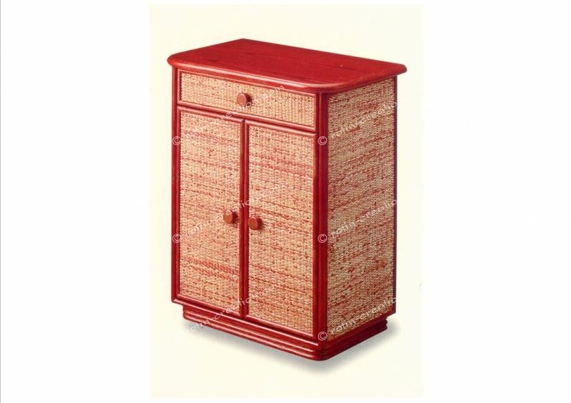 Meuble limoges petit meuble de rangement 1 tiroir et 2 for Meubles rotin pour veranda