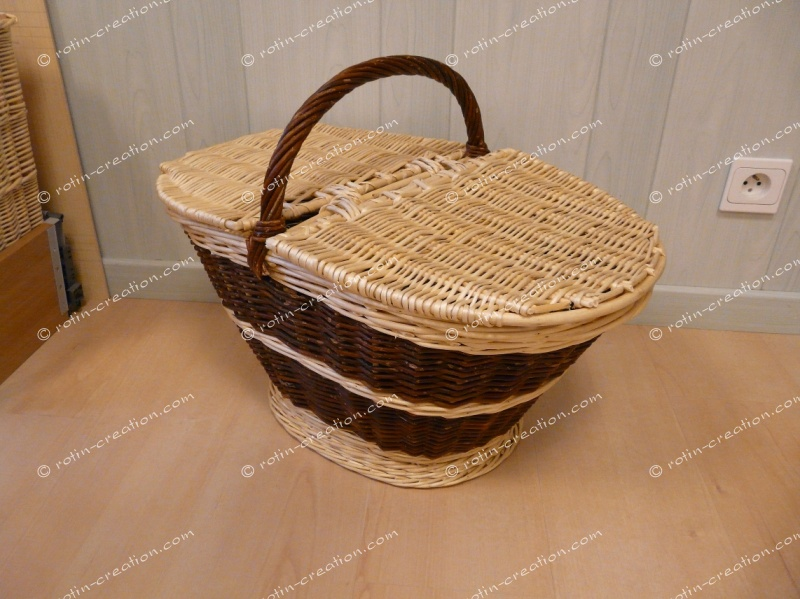 panier provisions crocane avec couvercle panier provisions ovale. Black Bedroom Furniture Sets. Home Design Ideas