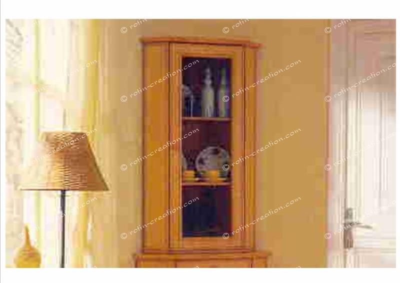 Meuble d 39 angle chambery haut 1 porte meuble d 39 angle standard for Meuble porte d orient