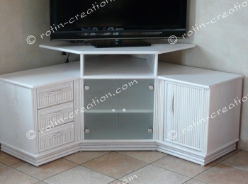 Meuble Dangle Tv Hifi Colombo Avec Rangement - Meuble Hifi Et Tv