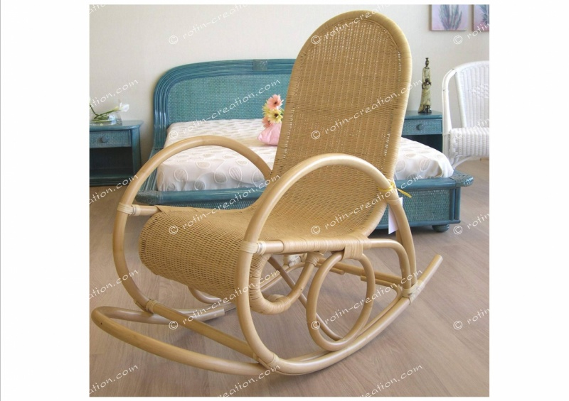 rocking chair renneta rocking chair en rotin et moelle de rotin. Black Bedroom Furniture Sets. Home Design Ideas