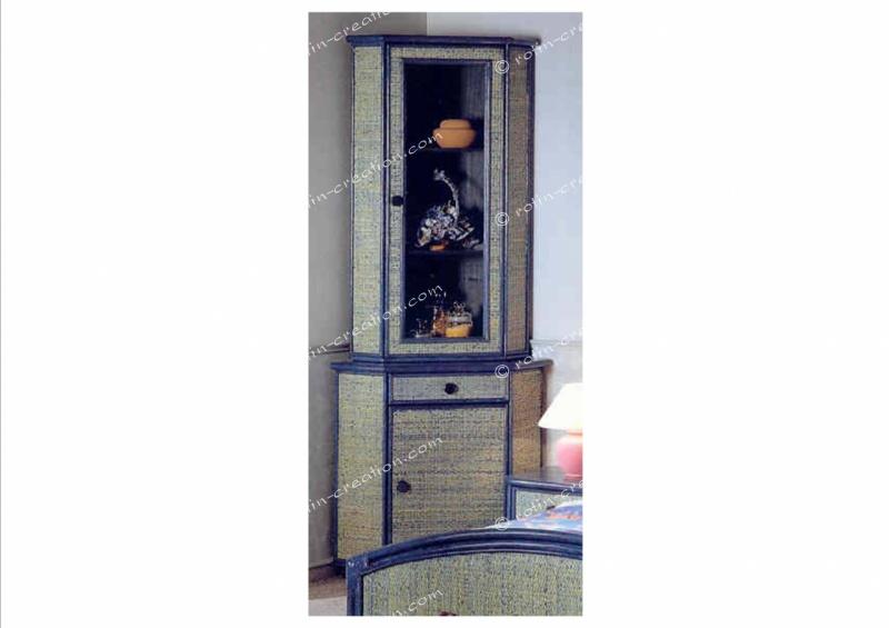 Meuble d 39 angle chambery bas 1 porte 1 tiroir meuble d for Meubles rotin pour veranda