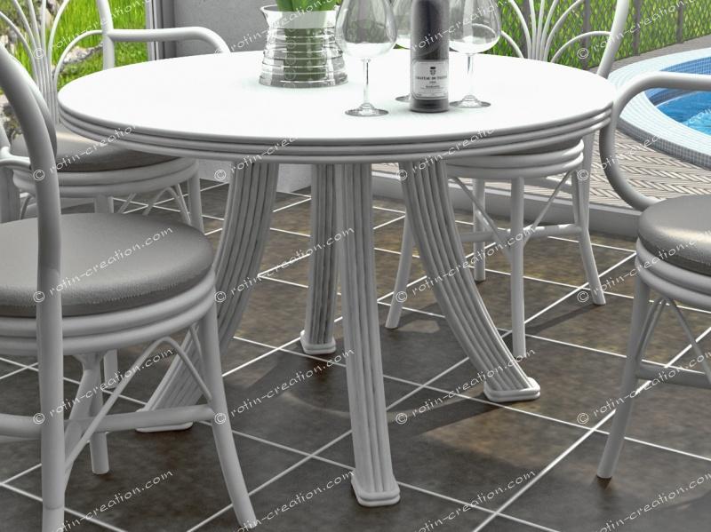 table fontaine ronde diam 110 table ronde en diam tre 110 sans allonge. Black Bedroom Furniture Sets. Home Design Ideas