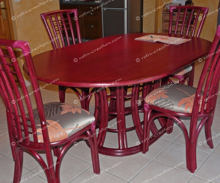 Table saint cyr ovale avec 2 allonges table ovale dessus for Table ovale avec allonges