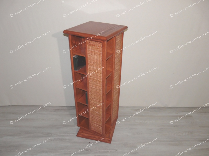 range cd dvd pivotant meuble de rangement pour cd ou dvd pivotant. Black Bedroom Furniture Sets. Home Design Ideas