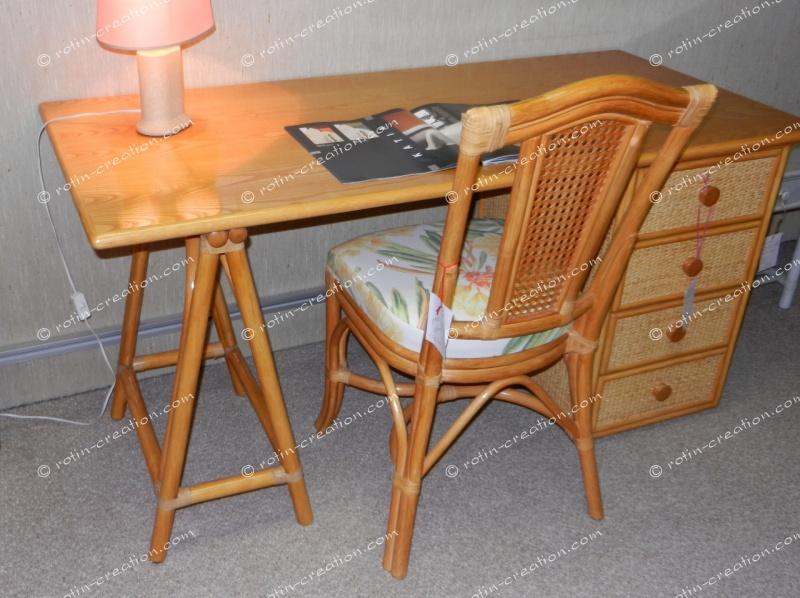 bureau gigny miel grand mod le bureau avec treteau et. Black Bedroom Furniture Sets. Home Design Ideas