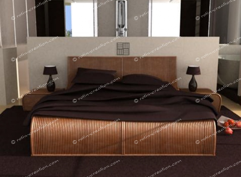 lit los angeles en 160 lit de grand standing 160x200. Black Bedroom Furniture Sets. Home Design Ideas