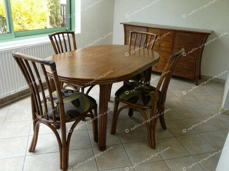 table ovale carlat avec 1 allonge table ovale avec 1 allonge de 48. Black Bedroom Furniture Sets. Home Design Ideas