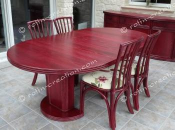 table lanoux ronde avec 1 allonge table ronde avec 1 allonge. Black Bedroom Furniture Sets. Home Design Ideas