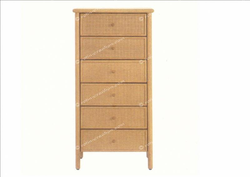 chiffonnier montauban 6 tiroirs chiffonnier 6 tiroirs sur pieds. Black Bedroom Furniture Sets. Home Design Ideas