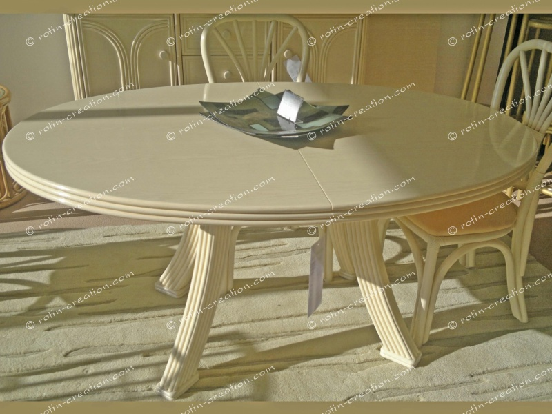 Table fontaine ovale avec 2 allonges table ronde en 110 for Table ovale avec allonges