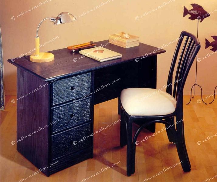 Bureau flechy 3 tiroirs pm bureau avec bloc 3 tiroirs for Petit bureau avec tiroir