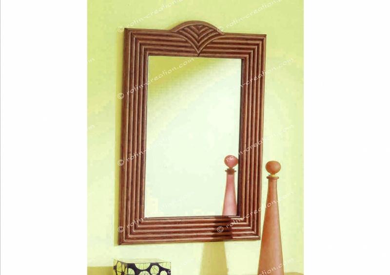 miroir varennes pm merisier sold miroir petit mod le en teinte merisier