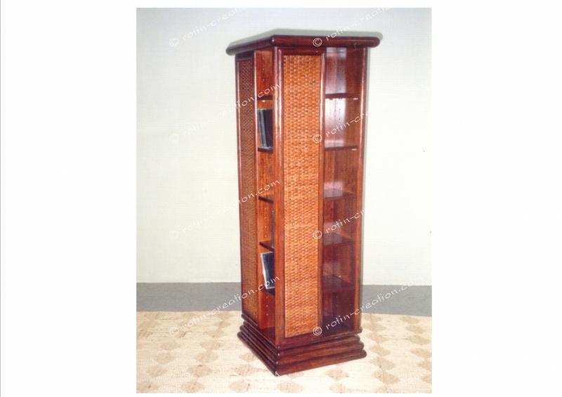 range cd dvd pivotant meuble de rangement pour cd ou. Black Bedroom Furniture Sets. Home Design Ideas