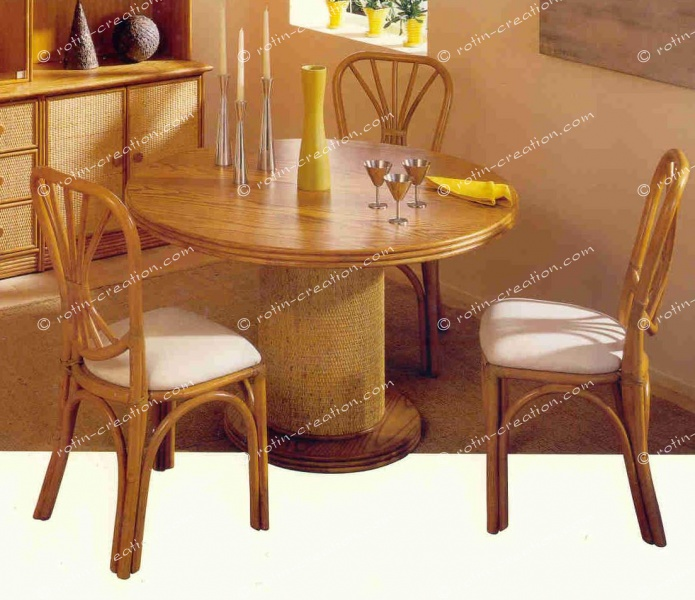 table ronde meribel avec 1 allonge table ronde avec 1 allonge. Black Bedroom Furniture Sets. Home Design Ideas