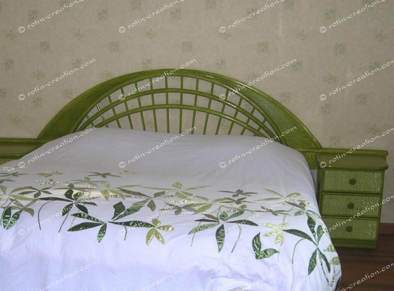 T te de lit houston en 160 t te de lit avec tablettes - Tete de lit 160 rotin ...