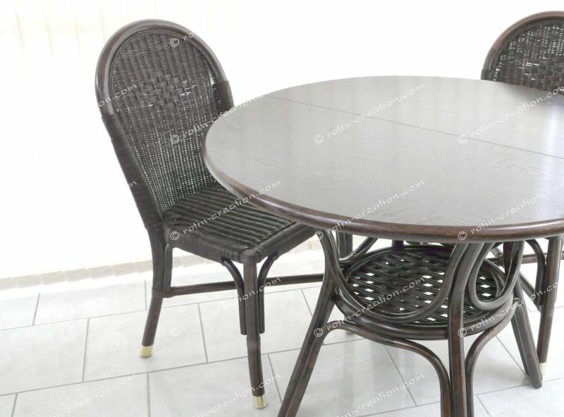 Chaise fidji sans coussin sans accoudoirs chaise en for Coussin pour chaise rotin