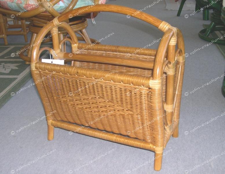 Porte revues valeria porte revue en moelle de rotin - Porte revues en bois ...