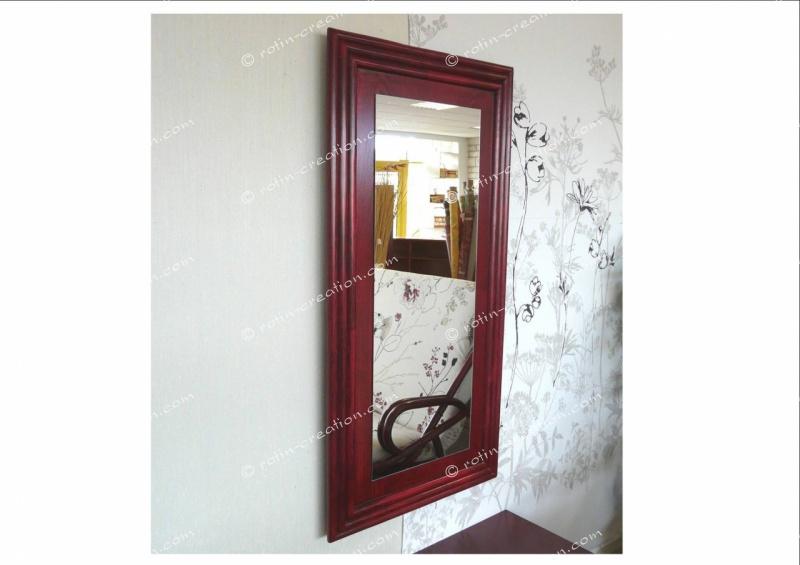 Miroir nice gm miroir rectangulaire en rotin for Miroir rectangulaire en rotin