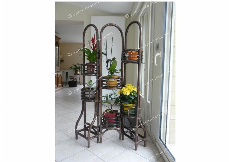 Porte plantes pliant porte plantes pliant sur pied for Porte pour paravent