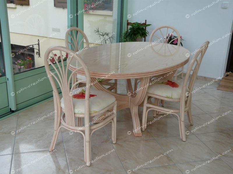 Table ronde valence avec allonge table ronde dessus bois for Table extensible pour veranda