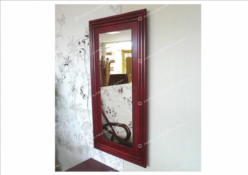 Miroir nice pm miroir rectangulaire en rotin for Miroir rectangulaire en rotin