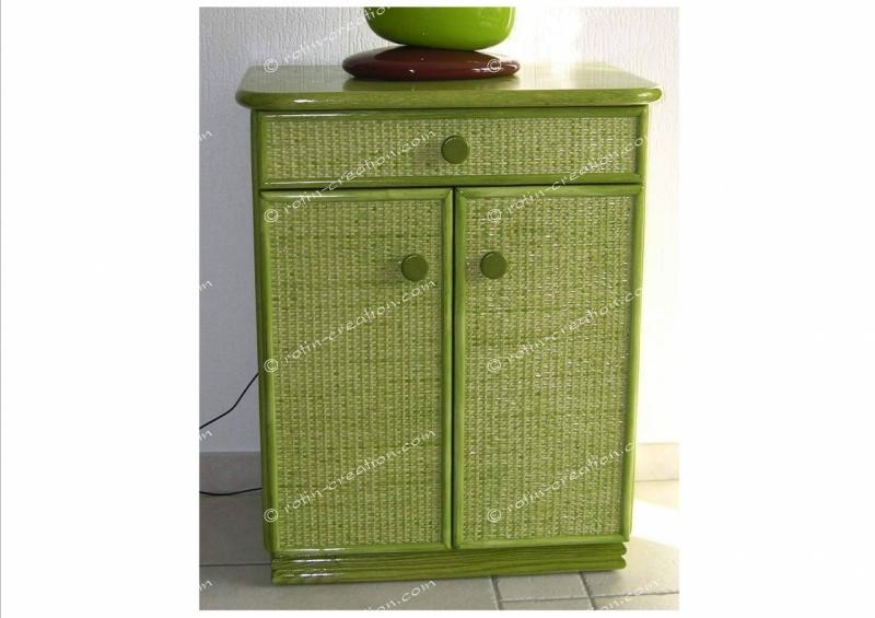 Meuble limoges petit meuble de rangement 1 tiroir et 2 for Petit meuble avec une porte