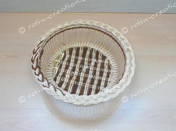 corbeille ronde clair fin en osier corbeille pour le pain ou vide poche. Black Bedroom Furniture Sets. Home Design Ideas