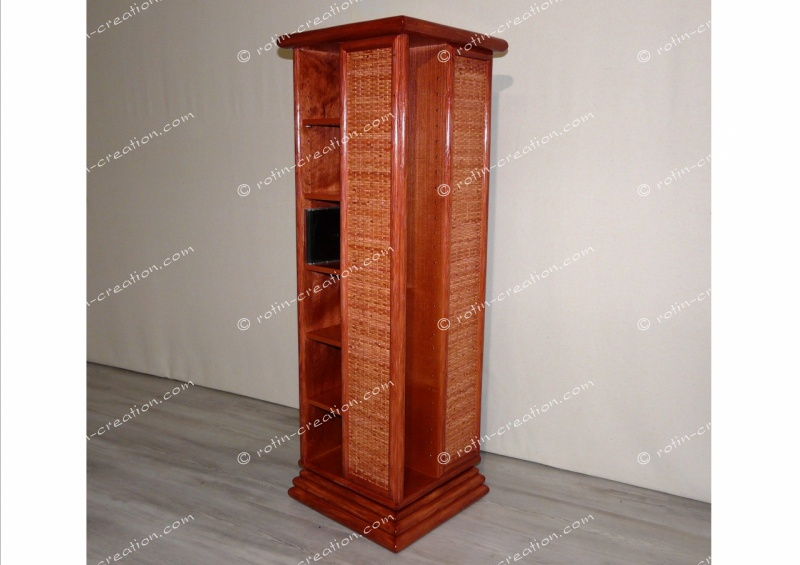 range cd dvd pivotant meuble de rangement pour cd ou. Black Bedroom Furniture Sets. Home Design Ideas