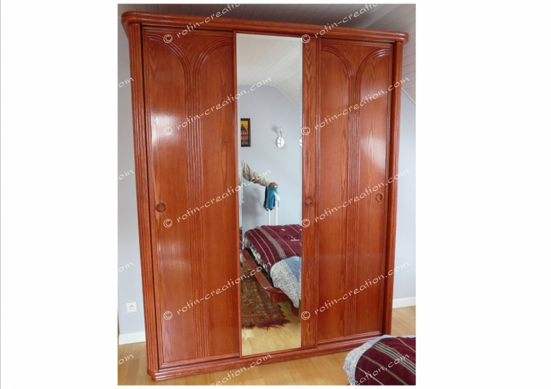 armoire veronne 3 portes coulissantes armoire 3 portes coulissantes. Black Bedroom Furniture Sets. Home Design Ideas