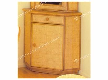 Meuble d 39 angle chambery bas 1 porte 1 tiroir meuble d for Meuble angle tiroir