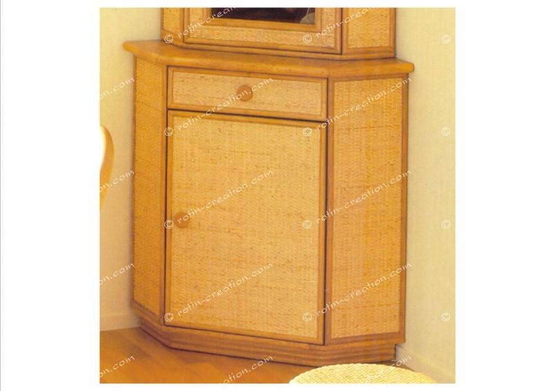 Meuble d 39 angle chambery bas 1 porte 1 tiroir meuble d for Meuble porte d orient