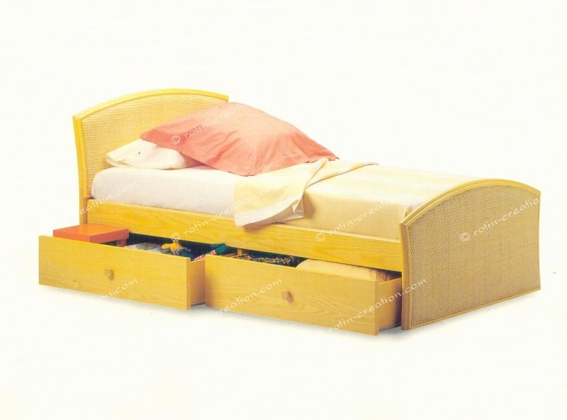 lit epinal 90 lit pour 1 personne avec 2 tiroirs pour. Black Bedroom Furniture Sets. Home Design Ideas