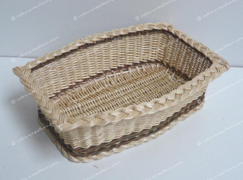 corbeille losange en osier corbeille pour le pain ou vide poche. Black Bedroom Furniture Sets. Home Design Ideas